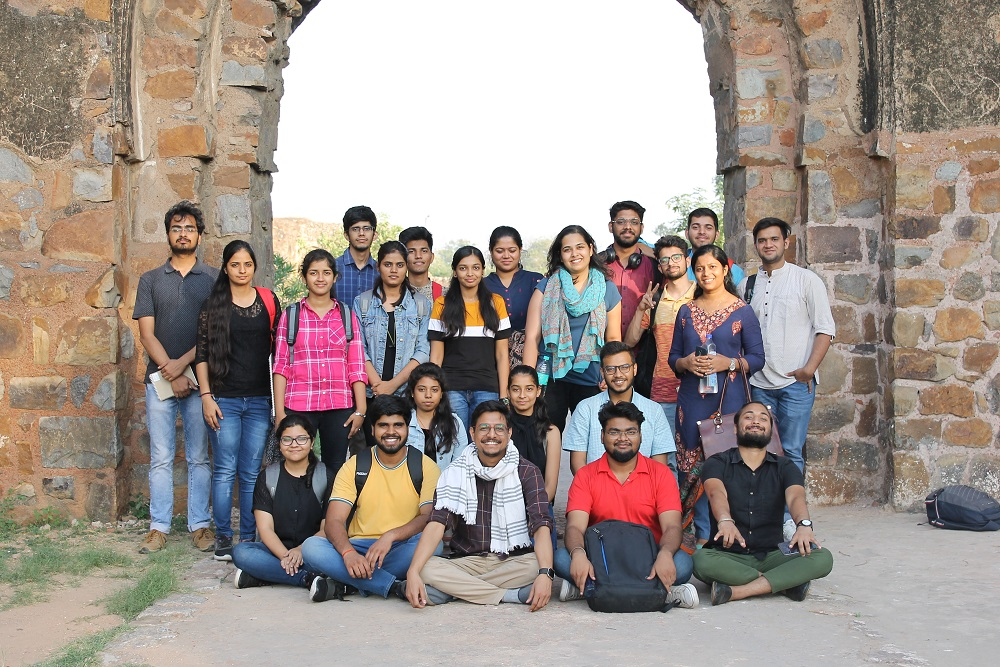 Site-specific workshop at Firoz Shah Kotla fort